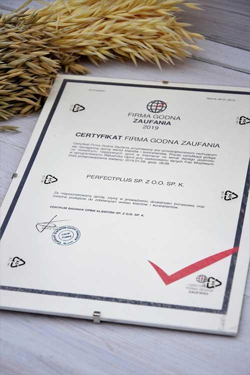 firma godna zaufania certyfikat